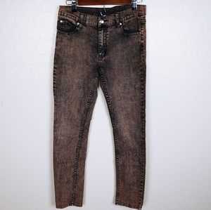 Cheap Monkey acid washed jeans